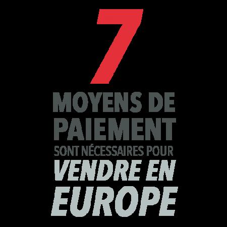7 moyens de paiement sont nécessaires pour vendre en Europe